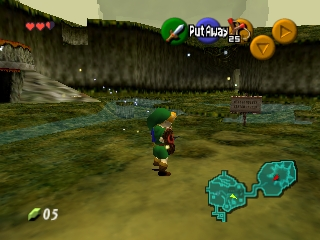 Legend of Zelda, The - Ocarina of Time (USA) In game screenshot