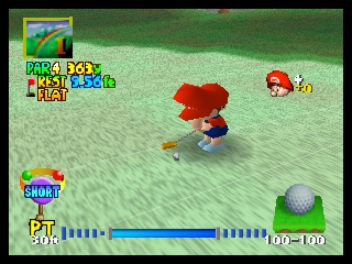 Mario Golf (USA) In game screenshot