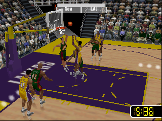 NBA Courtside 2 featuring Kobe Bryant (USA) In game screenshot