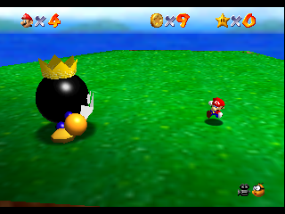 Super Mario 64 (USA) In game screenshot