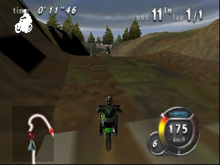 Top Gear Hyper-Bike (Europe) In game screenshot