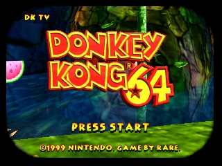 Donkey Kong 64 (USA) Title Screen