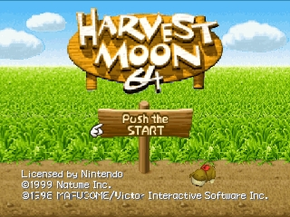 Harvest Moon 64 (USA) Title Screen