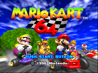 Mario Kart 64 (USA) Title Screen