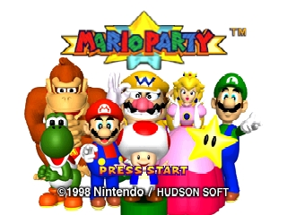 Mario Party (USA) Title Screen