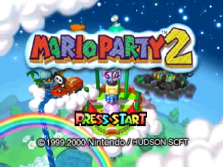 Mario Party 2 (USA) Title Screen