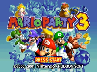 Mario Party 3 (USA) Title Screen