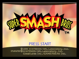 Super Smash Bros. (Europe) (En,Fr,De) Title Screen