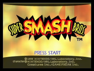 Super Smash Bros. (USA) Title Screen