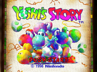 Yoshi's Story (USA) (En,Ja) Title Screen