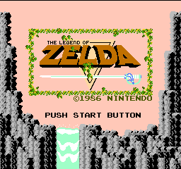 Legend of Zelda, The (USA) Title Screen