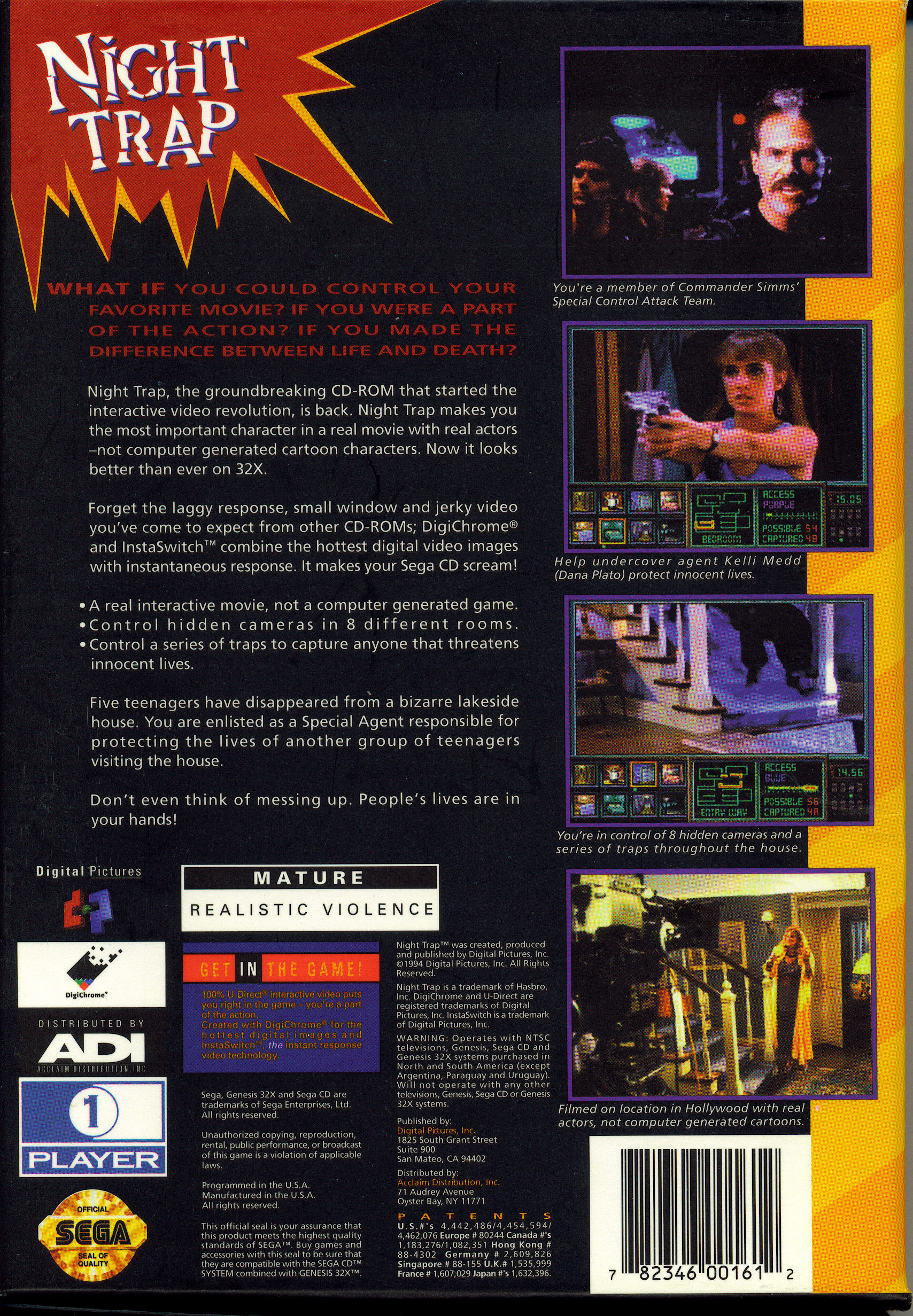 Game of the Week for 7/15/2013 is Night Trap : SEGA32X