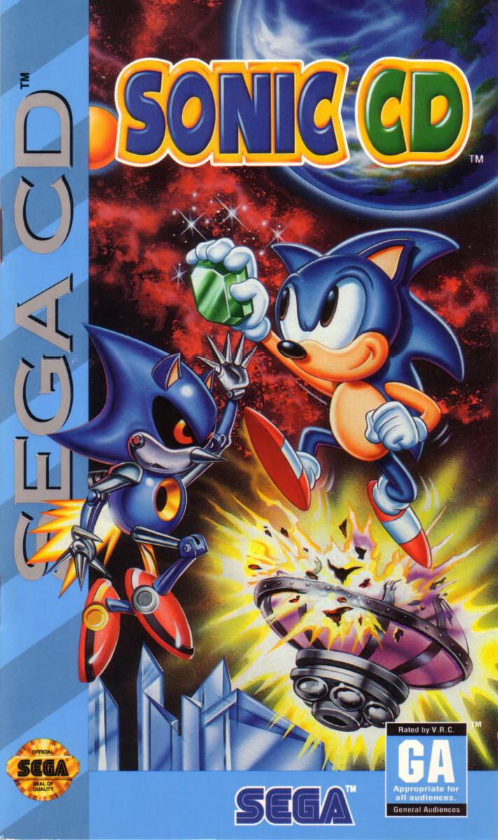 Sonic CD (U) Front Cover