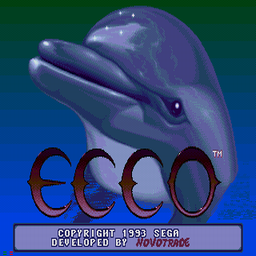 Ecco the Dolphin (U) Title Screen