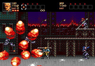 Contra - The Hard Corps (Japan) In game screenshot