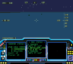 LHX Attack Chopper (USA, Europe) In game screenshot