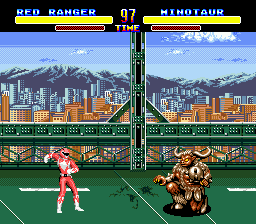 Mighty Morphin Power Rangers (USA) In game screenshot