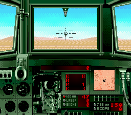 Super Battletank - War in the Gulf (USA) In game screenshot