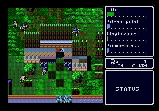 Super Hydlide (USA) In game screenshot