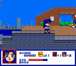 Syd of Valis (USA) In game screenshot