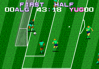 Tecmo World Cup (USA) In game screenshot