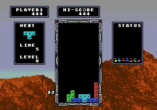 Tetris (Japan) In game screenshot