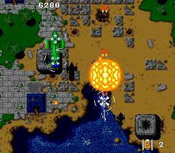 Twin Cobra (USA) In game screenshot