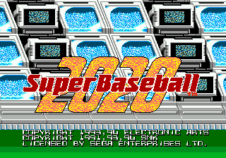 2020 Toshi Super Baseball (Japan) Title Screen