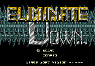 Eliminate Down (Japan) Title Screen