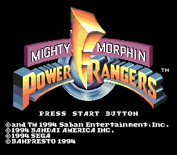 Mighty Morphin Power Rangers (USA) Title Screen