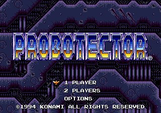 Probotector (Europe) Title Screen