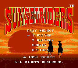 Sunset Riders (USA) Title Screen