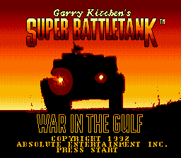 Super Battletank - War in the Gulf (USA) Title Screen