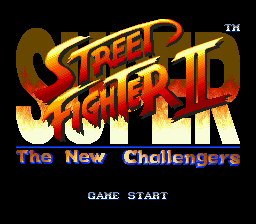 Super Street Fighter II - The New Challengers (USA) Title Screen