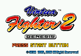 Virtua Fighter 2 (USA, Europe) Title Screen