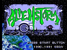 Alien Storm (Europe) Title Screen
