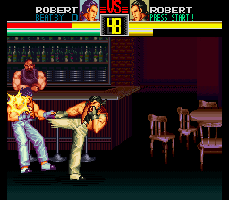 Art of Fighting (USA) In game screenshot