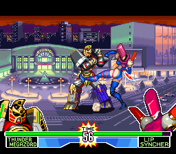 Mighty Morphin Power Rangers - The Fighting Edition (Europe) In game