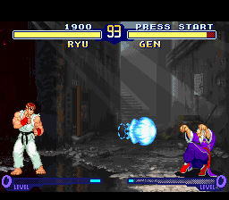 Street Fighter Alpha 2 (USA) In game screenshot