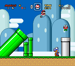 Super Mario World (USA) In game screenshot