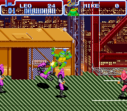 Teenage Mutant Ninja Turtles IV - Turtles in Time (USA) In game screenshot