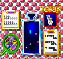 Tetris & Dr. Mario (USA) In game screenshot