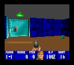 Wolfenstein 3D (USA) In game screenshot