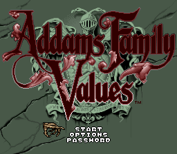 Addams Family Values (USA) (En,Fr,De) Title Screen