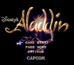 Aladdin (USA) Title Screen