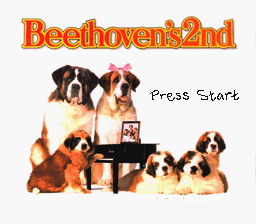 Beethoven's 2nd - The Ultimate Canine Caper! (USA) Title Screen
