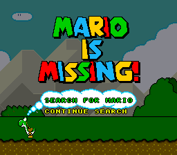 Mario is Missing! (USA) Title Screen