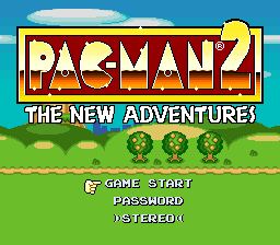 Pac-Man 2 - The New Adventures (USA) Title Screen