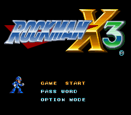 Rockman X3 (Japan) Title Screen
