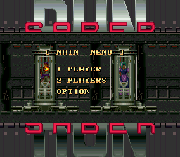 Run Saber (USA) Title Screen